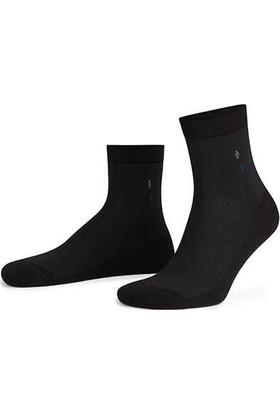 Aytuğ Erkek Bambu Kısa Konç Çorap Desenli - 14107 Siyah 40 - 45