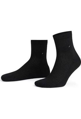 Aytuğ Business Erkek Penye Kısa Konç Çorap Desenli - 11102 Siyah 40 - 45