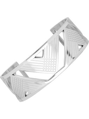 Getss Modern Tasarım Kadın Çelik Kelepçeli Bileklik BLZ1521