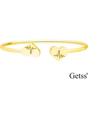 Getss Kalp Model Kadın Çelik Kelepçeli Bileklik BLZ1458