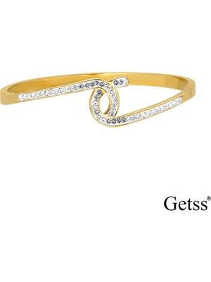 Getss Modern Tasarım Kadın Çelik Kelepçeli Bileklik BLZ1444