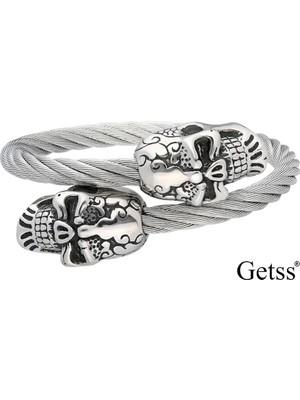 Getss Kurukafa Model Erkek Çelik Kelepçeli Bileklik BLZ1503