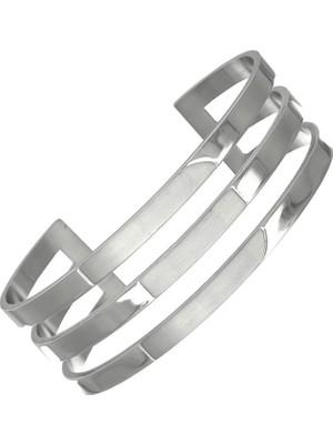 Getss Retro Dizayn Kadın Çelik Kelepçeli Bileklik BLZ1520S