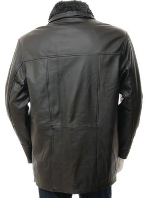 Derimont's Erkek Siyah Deri Ceket Erfut