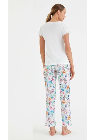 Suwen Juliet Pijama Takımı - Ekru