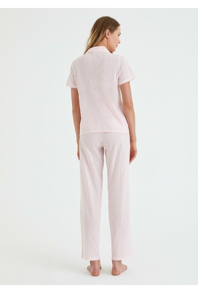 Suwen Femme Maskulen Pijama Takımı - Pembe
