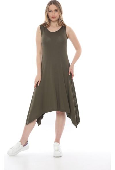 Manche Kadın Haki Alti Salaş Elbise Mk19S284757