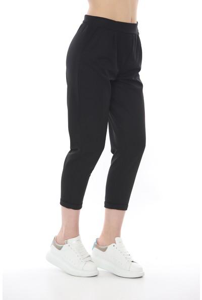 Manche Kadın Siyah Kadın Pantolon 66-0035