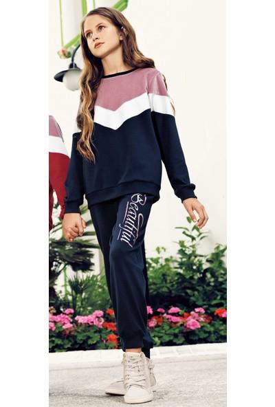 Pikidor 0029 Beautiful Kız Çocuk Pijama Takımı - Lacivert