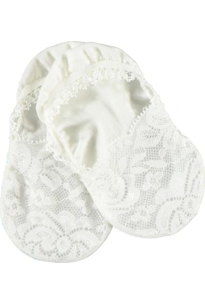 Bella Calze Kız Çocuk Dantelli Suba Çorap 6-9 Yaş Ekru