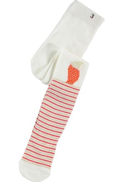 Civil Baby Kız Çocuk Külotlu Çorap 3-11 Yaş Ekru