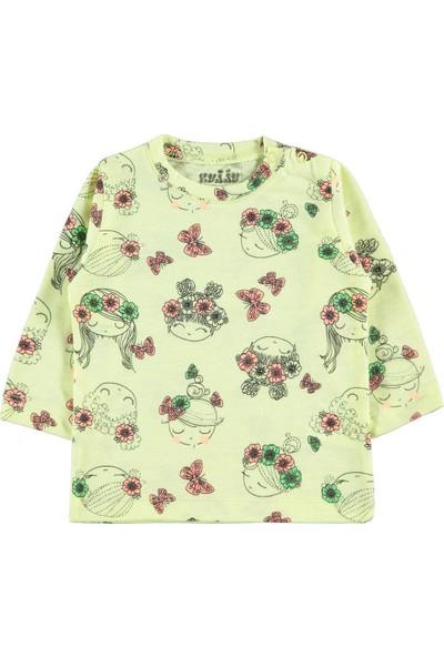 Kujju Kız Bebek Sweatshirt 6-18 Ay Sarı