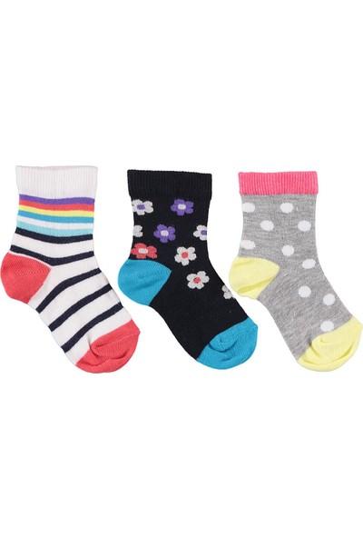 Civil Girls Kız Çocuk 3'lü Çorap 3-11 Yaş Lacivert