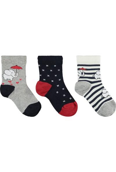 Civil Girls Kız Çocuk 3'lü Çorap Set 3-11 Yaş Gri