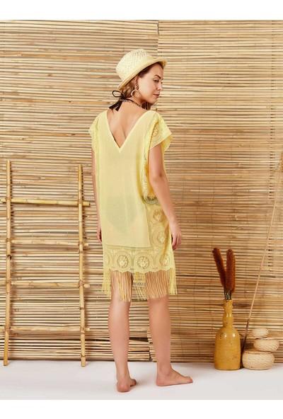 İngodi Diana Plaj Elbisesi (Sarı) Deniz Plaj Giyim