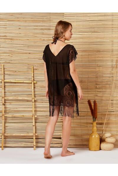 İngodi Diana Plaj Elbisesi (Siyah) Deniz Plaj Giyim