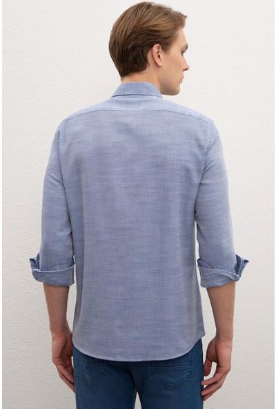 U.S. Polo Assn. Erkek Dokuma Gömlek 50218438-VR033