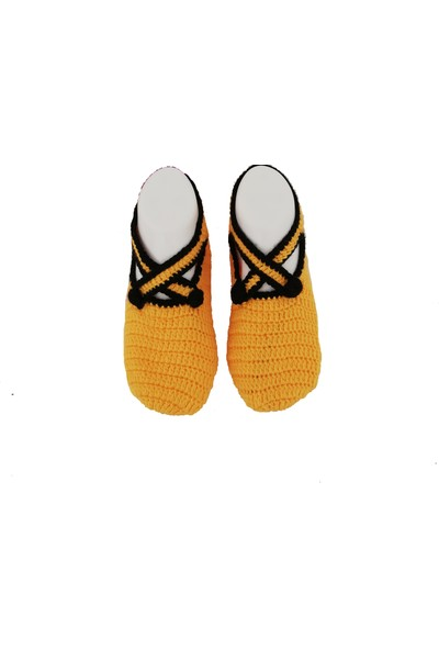 Nuh Home El Yapımı Kışlık Kadın Patik Çorap Sarı Renk