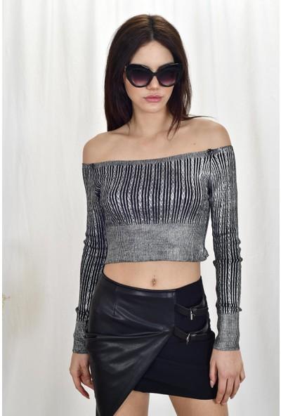 The Most Fashion Varaklı Bluz