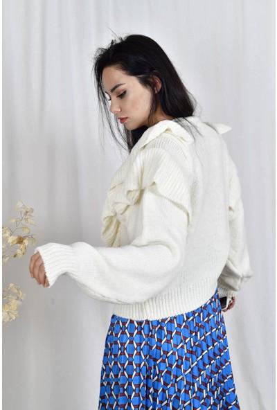 The Most Fashion Fırfırlı Kazak