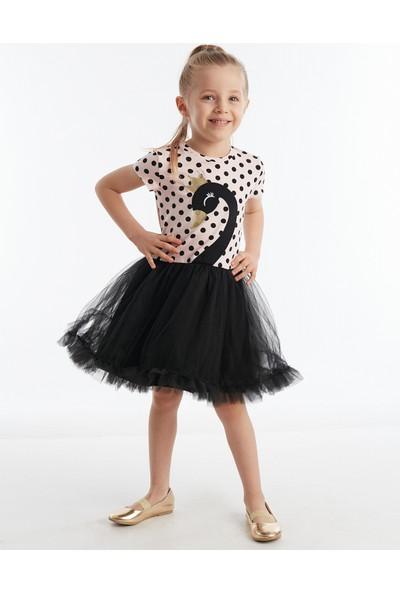 Denokids Siyah Kuğu Kız Çocuk Tütü Elbise