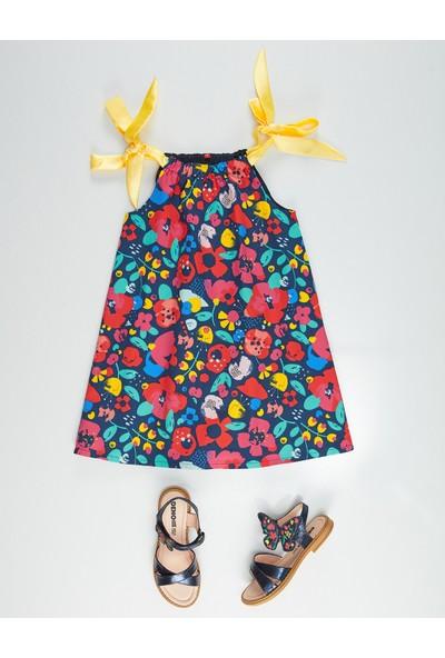 Denokids Bahar Çiçekli Kız Çocuk Elbise