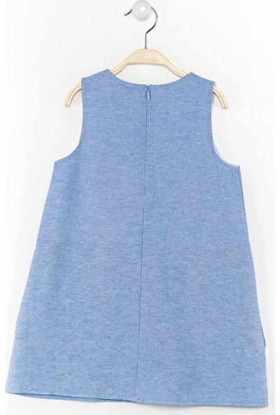 Denokids İkiz Kedi Mavi Elbise