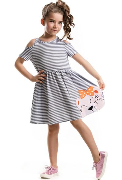 Mushi Omuz Oyuntulu Ayıcık Elbise