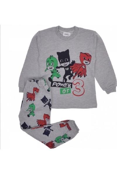 Süper Mini Pjmasks Unisex Çocuk Pijama Takımı
