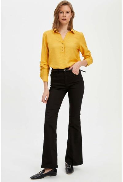 Defacto Kadın Relax Fit Uzun Kol Bluz