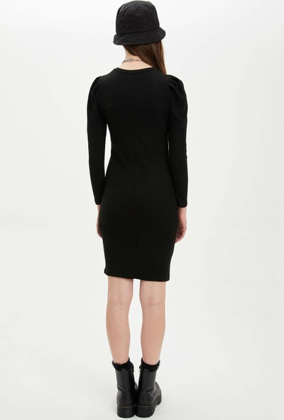 DeFacto Balon Kol Slim Fit Elbise N8843AZ20SP