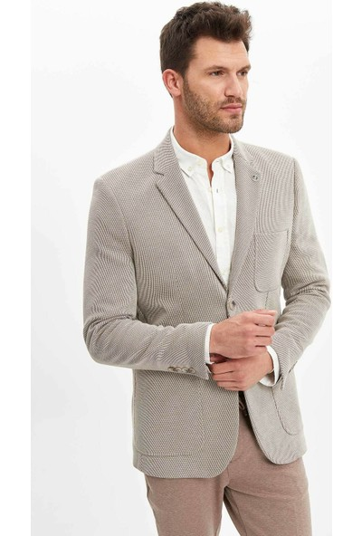 Defacto Erkek Basic Slim Fit Blazer Ceket