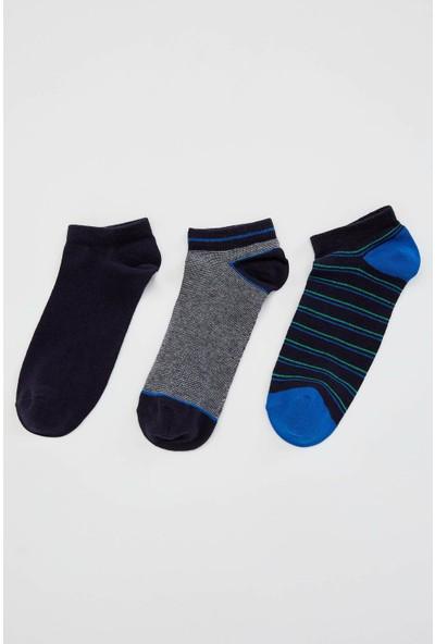 Defacto Erkek 3'lü Kısa Çorap Seti