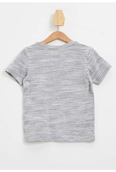 Defacto Erkek Çocuk Desenli Kısa Kollu T-shirt
