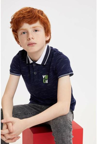 Defacto Erkek Çocuk Pike Polo Yaka T-shirt