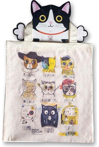 Akademi Çocuk Funny Bag Sanatçı Kediler 2004