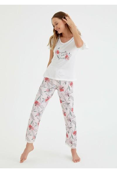 Suwen Elisa Pijama Takımı - Ekru