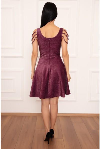 Kalopya Eleanor 3899 Simli Kısa Elbise