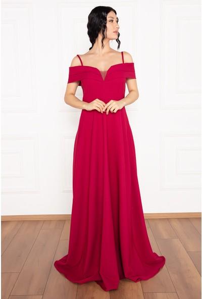 Kalopya Susan 13238 Uzun Askılı Atlas Elbise
