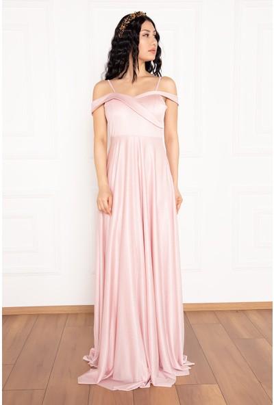 Kalopya Deborah 13242 Askılı Uzun Elbise