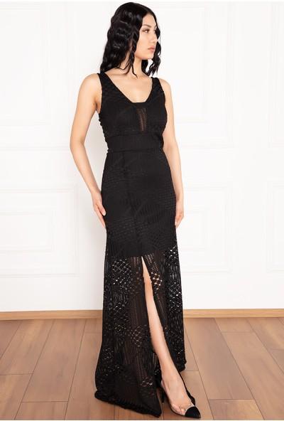 Kalopya Quinn 13279 Dantel Uzun Elbise