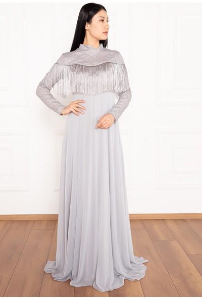 Kalopya Büşra 13058 Tül Tesettür Elbise