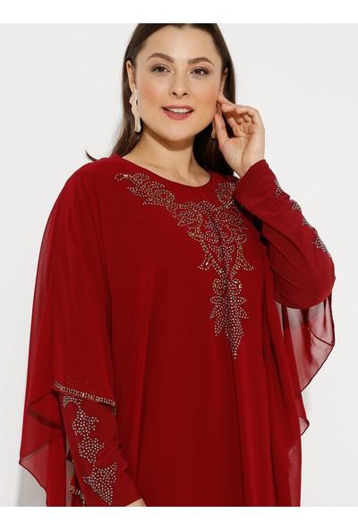 Amine Hüma Kadın Büyük Beden Abiye Elbise