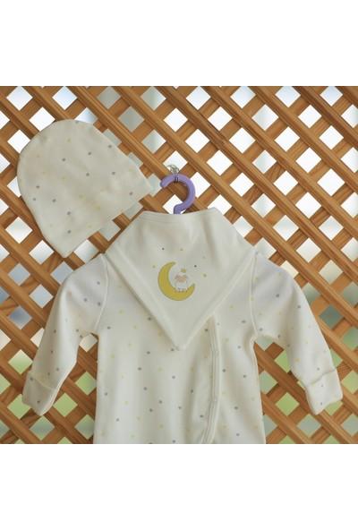 Hug By Organic 3 Parça Organik Tulum Seti Sarı Yıldız Desen