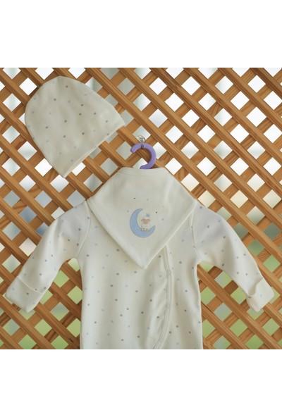 Hug By Organic 3 Parça Organik Tulum Seti Mavi Yıldız Desen