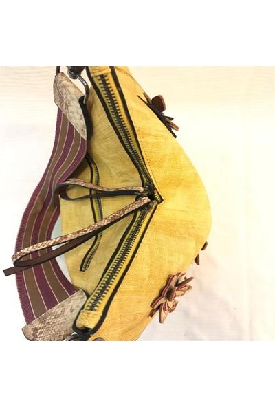 Miranda Sarı Çiçekli Çanta
