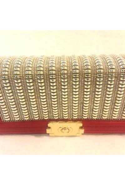 Westlife Taşlı Kırmızı Çanta