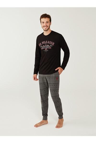 U.S. Polo Assn. Yuvarlak Yaka Pijama Takımı