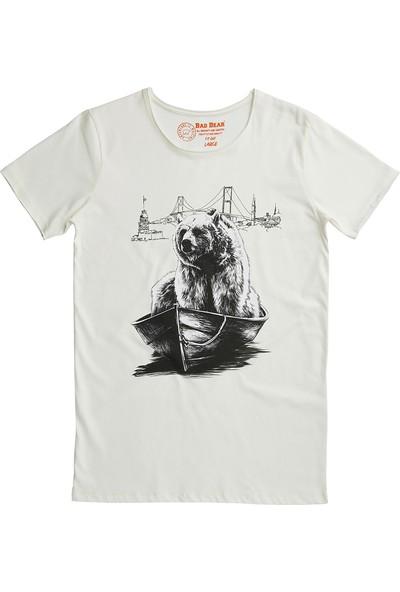 Bad Bear Beyaz Erkek T-Shirt Escapist Tee Off-White