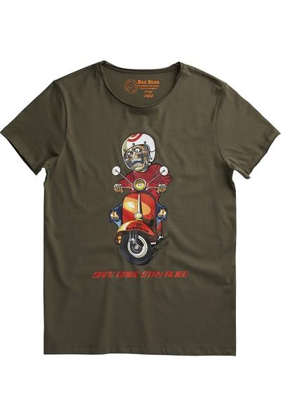 Bad Bear Haki Erkek T-Shirt Scooter Tee Khaki